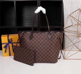 Moda di alta qualità Louis Neverfull Borse in pelle da donna + Portafogli Borse a tracolla shopping tote bag Portafoglio borsa a portafoglio K60204 da