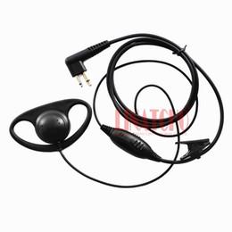 Auriculares jamon ptt online-Buena calidad D-forma PTT VOX micrófono MOTOROLA walkie talkie CP88 CP100 CP150 interphone jamón de dos vías auriculares de radio auricular
