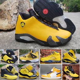 Jumpman Bumblebee 1 4 5 9 11 12 13 14 I IV V IX XII XIII XIV Jaune Chaussures de basket ball hommes de basket ball Sport Sneaker Bottes taille 7 12