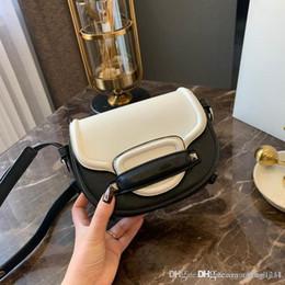 berühmtheitstasche echt Rabatt Die neue südkoreanische weibliche Freizeitmode Web Celebrity Satteltasche getragen dünne echtes Leder Handtasche Umhängetasche Designer Handtaschen Tote