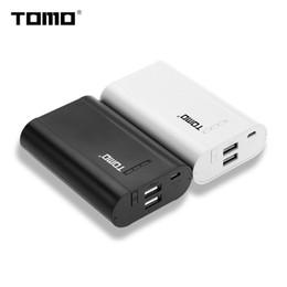 Tomo do banco de energia on-line-TOMO P3 Portas USB duplas Caixa de banco de potência DIY, 3x 18650 carregador de bateria para iPhone, iPad, HTC, telefone móvel Mais