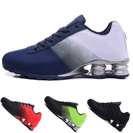 homens, correndo, sapato, shox Desconto Preto Shox Deliver 809 Homens Air Running Shoes Atacado Famoso DELIVER OZ NZ Mens Tênis Esportivos Running Shoes 40-46