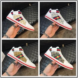 2020 zapatos de lona de hip hop HOT! Luxury Brands New High Top Casual Shoes Designer For Men Canvas Lace Up Mens Hip Hop Shoes Men High Top Sneaker Big Size 39-44 rebajas zapatos de lona de hip hop