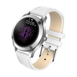 Misuratori di cuore online-La signora KW10 Smart Watch Fashion Gauge Monitoraggio della frequenza cardiaca Sport Monitoraggio del sonno Polso Turning Bright Screen IP68 Impermeabile