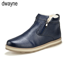 sapatos casuais casual zipper Desconto Big Size Homens sapatos de alta qualidade Inverno Casual Quente Mens Botas barato Unisex Zipper botas de couro Neves Male569