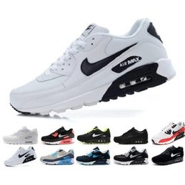 Toptan 2020 Klasik Max 90 Hava Yastık Casual Ayakkabı Koşu Erkekler Kadınlar 90 lar Nefes Siyah Beyaz Eğitmen Doğa Sporları Sneakers Yüzey