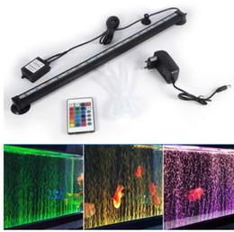 Aquário iluminação led 46 cm 5050 rgb led tanque de peixes de aquário luz submersível air aquarium lâmpada de controle remoto de