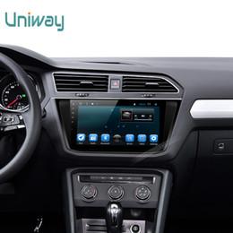 cargador de coche mercedes Rebajas Uniway 2G + 32 2 din android 7.1 dvd del coche para vw tiguan 2017 radio de coche gps naviagtion con soporte de volante wifi 4g