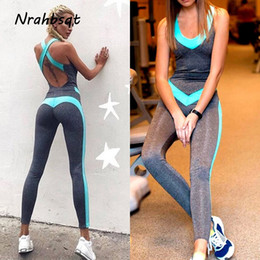 a21091d310d5 NRAHBSQT Sport Suit Women Tracksuit Yoga Set Backless Gym Running  Sportswear Leggings Tight One Piece Workout Jumpsuit YS049  135206 discount  men one piece ...