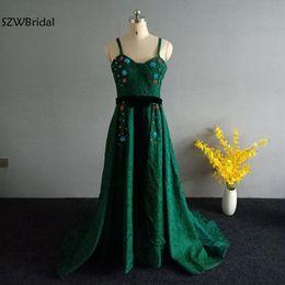 2019 vestido de noche árabe dubai Nueva llegada Vestidos de noche de encaje verde 2019 Dubai Árabe musulmán Vestido de noche Robe de soiree abiye Vestido formal Vestidos de fiesta vestido de noche árabe dubai baratos