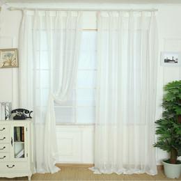 vorhang falten stile Rabatt Weiß Elegante Tüll Vorhänge Türfenstervorhang Dekoration Drapieren Sheer Schal Volants Vorhang Für Kinder schlafzimmer firanki na okno