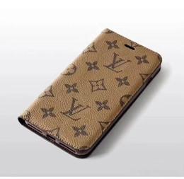 Крышка обратной карты онлайн-Для iphong X XS XR Xs макс. 7 7plus 8 8plus 6 6plus Роскошный кожаный чехол для телефона-кошелька + держатель для карты TPU Дизайнерский чехол Задняя крышка