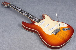 Helpful Neck Through Body New Brand Electric Guitar With 3pcs In Sunburst Free Shipping Stringed Instruments