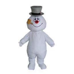 disfraz de totoro vecino Rebajas 2019 de alta calidad caliente Frosty Snowman traje de la mascota caminando adulto de dibujos animados ropa envío gratis