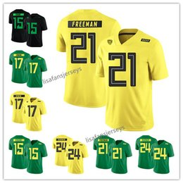 Mens Oregon Duck Colégio Jerseys 15 Patrick Irwin 17 Mike Irwin 21 Royce Freeman  24 Kenjon Barner 2019 amarelo verde preto NCAA Jerseys 3b524a60b
