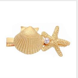 Argentina Personalidad perla joya estrella de mar shell horquilla adornos viento marino horquilla adornos Suministro
