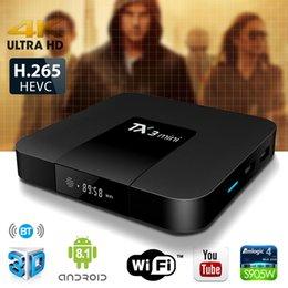 Smart tv box android 4k en Ligne-TX3 Mini Android 8.1 TV BOX 2 Go 16 Go Amlogic S905W Quad Core Smart TV Box 4K VS X96 Mini H96 X96 Air