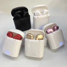 2019 ящик для яблока I7s TWS i7 TWS Bluetooth наушники с зарядным кабелем Mic Mini Twins беспроводные наушники портативные наушники-вкладыши для водителя розничная коробка 0003