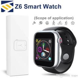 Z6 Sport Smart Watch Bluetooth 3.0 Fitbit Tracker Камера с сенсорным экраном SmartWatch 1,54-дюймовый Поддержка Android Телефон Sim TF Карта ПК DZ09 cheap inches bluetooth smart watch от Поставщики дюймы bluetooth умные часы