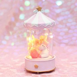 projetores de vela Desconto Bonito Unicórnio Olá Kitty CONDUZIU a Luz da noite para Crianças Caixa De Música Do Leão Dos Desenhos Animados Crianças Room Decor Candeeiros De Mesa de Cabeceira