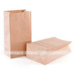 100pcs Sacs À Lunch En Papier Kraft Marron Sacs En Gros Carrier Sandwich Bag ? partir de fabricateur