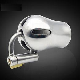 imbracatura del dispositivo di castità Sconti Happygo, anello a D in titanio PA Lock Glans Piercing maschile Dispositivo di castità Pene Harness Restraint Leashes Montaggio, pa Puncture, A294-w Y19070602