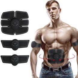 abs adelgazante Rebajas Nueva llegada eléctrica muscular Estimulador ABS ccsme Trainer Estimulación adelgazar máquina abdominal ejercitador muscular masajeador dispositivo de entrenamiento
