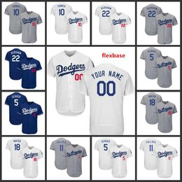 0b4486d9d68 Custom 2019 Dodgers Stitched Jersey 10 Justin Turner 22 Clayton Kershaw 5  Corey Seager Los Angeles All Sewn Embroidered Jerseys