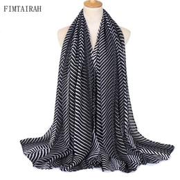 2019 algodão de viscose de xale impresso Novo Algodão Hijab Cachecol AZTEC Tarja Impressão Maxi Xale Macio Viscose Qualidade Véu Muçulmano Envoltório Moda Feminina desconto algodão de viscose de xale impresso