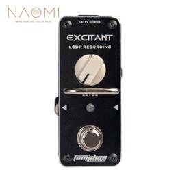 Gitarrenschleife online-NAOMI-Gitarren-Effektpedal AROMA ALP-3 Loop-Aufnahme Gitarren-Effektpedal Looper-Effekt True Bypass Unbegrenzt Overdub True Bypass
