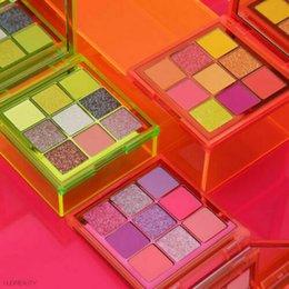 Cores de néon rosa on-line-New Maquiagem Eye néon obsessões Paleta de beleza Neon Verde Laranja Rosa Paleta Obsessões 9 cores Shimmer Shinning Matte Olho Shad