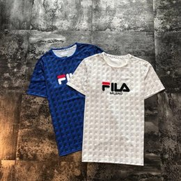 375fe1ffec matching couple t shirts 2019 - Men's new fashion knit full printed  short-sleeved T