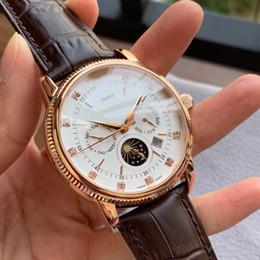 melhores marcas de relógios digitais Desconto 2019 relógio de luxo 43 designer mens relógios famosa marca nova moda relógios pulseira de couro Real Best selling explosão Classic eternity