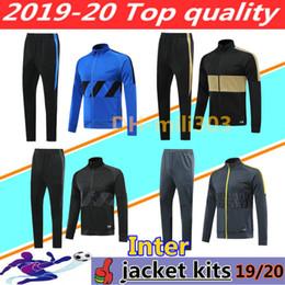 conjunto de treinamento com zíper Desconto Jaquetas de kits de treino INTER 2019 2020 ICARDI nainggolan CANDREVR 19 20 jaqueta de fato de treino veste set
