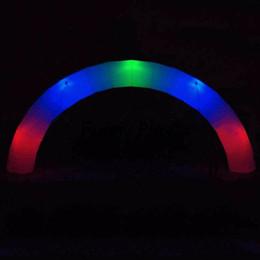 2019 ingresso di nozze Arco gonfiabile a LED con aeratore per decorazione di eventi per matrimoni (bianco, 8m / 26ft) arco di ingresso gonfiabile a led ingresso di nozze economici