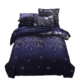 space bedding sets Coupons - Urijk Galaxy Bedding Set Universe Outer Space Themed Galaxy Print Duvet Cover & Pillow Case Queen Size Bedclothes
