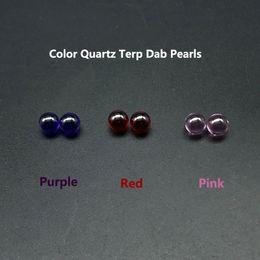 Perline di marmo online-Perle colorate per il quarzo di terp Dab Beracky colorato con perline da 6mm rosa rosso porpora per Dab Dab accessori per il marmo al quarzo per il quarzo come regalo