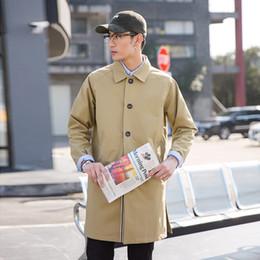 giacche da giacca lunga coreana Sconti 2019 primavera e l'estate giapponese coreano moda business casual coppia tinta unita cappotto lungo giacca da uomo nuovo consiglio