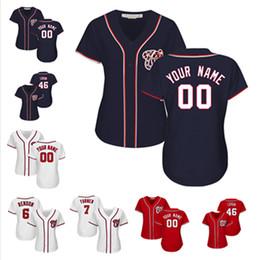 jersey de béisbol de franela Rebajas Mujeres Adam Eaton Anthony Rendon Nacionales personalizados Jersey Trea Turner Patrick Corbin Camisetas de béisbol de Washington
