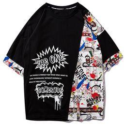 Cime di blocco di colore delle donne online-Color Block Casual Manica corta Uomo Donna 2019 New Summer T-shirt Hip Hop Streetwear Hawaii Top Tees Maglietta Harajuku