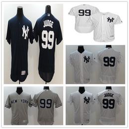2019 beisebol personalizado 2017 New York Yankees Personalizado Camisas De Beisebol Bordado Costurado Mens 99 Aaron Juiz baseball Jersey tamanho do logotipo M-XXXL desconto beisebol personalizado