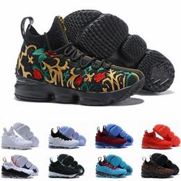 баскетбольные туфли размер 15 Скидка Высокое качество Lebron 15 Performance Kith Ashes Ghost Мужские баскетбольные кроссовки прибытия кроссовки 15s Джеймс спортивный дизайнер кроссовки LBJ размер 12