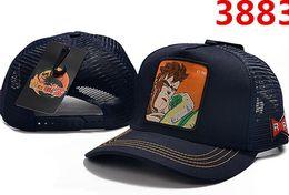 2019 nuevos sombreros Imágenes de personajes de anime de Dragon Ball Malla de béisbol de malla de lujo de alta calidad Gorras de hombres y mujeres snapback Sombreros de estudiantes desde fabricantes