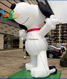 caráter inflatables Desconto Desenhos animados infláveis do cão inflável quente feito sob encomenda da venda de 3M, balões do caráter para anunciar