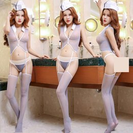 Argentina Lencería sexy Sao señuelo transparente uniforme o lindo sexy coqueteo pasión abierta traje mujer burlas cama Suministro
