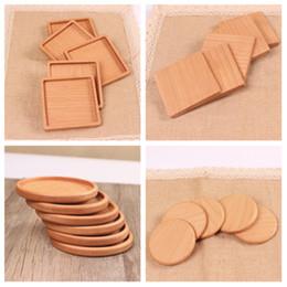 2019 runde spitzen-tischsets NEUE Holz Untersetzer Holz Holz wärmeisoliert Pad Teetasse Pads Isolierte Trinkmatten Teekanne Tischset Getränkehalter T2I5297