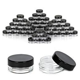 Campione grammi grammi online-Contenitori per cosmetici da 5 grammi Contenitori con coperchio per cosmetici Contenitori per campioni di trucco in plastica Vasetti per barattoli senza BPA