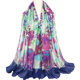 2020 lenços de primavera mulheres flor algodão Marca New Flower Lenços Mulheres Moda Grande tamanho impresso Praia Wraps E Lady Xaile Primavera Bali Fios de Algodão Cachecol atacado lenços de primavera mulheres flor algodão barato