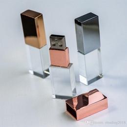 2019 logo personalizzato flash drive Pendrive di nozze dello studio di fotografia di logo 3D di cristallo di chiavetta USB 2.0 logo personalizzato flash drive economici