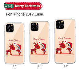 caso do iphone de santa do natal Desconto iPhone de Natal Telefone capa para iPhone 11 X XR XS Max Pro Elk Papai Noel macio TPU Capa Para 6 7 8 Plus